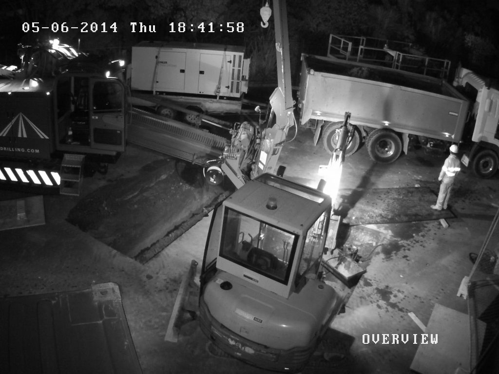 Building site security cameras